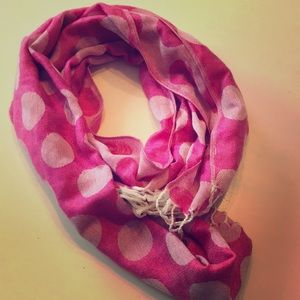 Pink poke-a dot scarf from Old Navy.